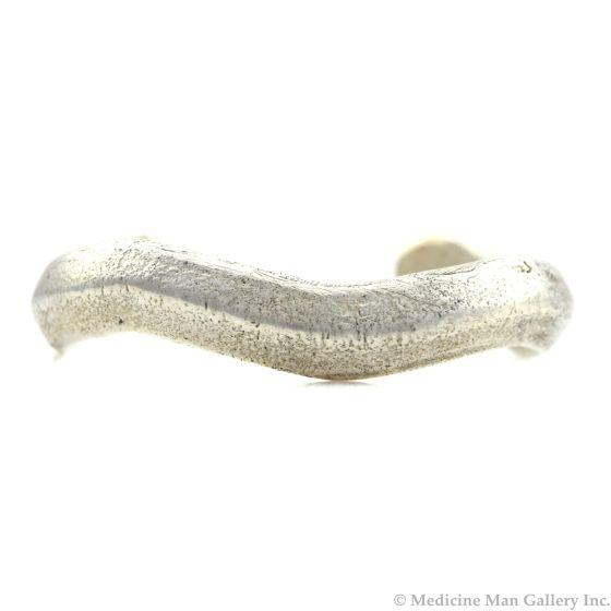 Miramontes - Sterling Silver Cast Serpentine Bracelet Cuff, size 6.25