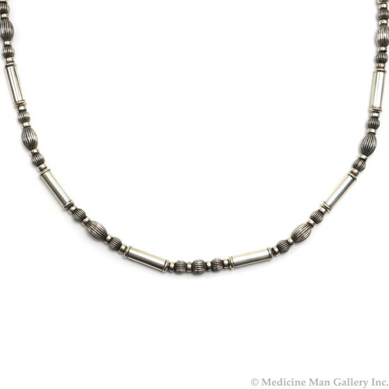 """Frank Patania, Jr. - Sterling Silver Beaded Necklace, 31"""" length (J91620A-0620-007)"""