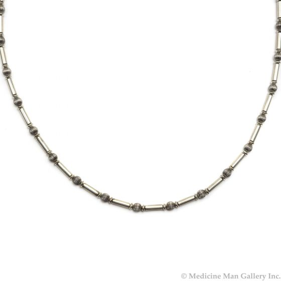 "Frank Patania, Jr. - Sterling Silver Beaded Necklace, 26"" length (J91620A-0620-008)"