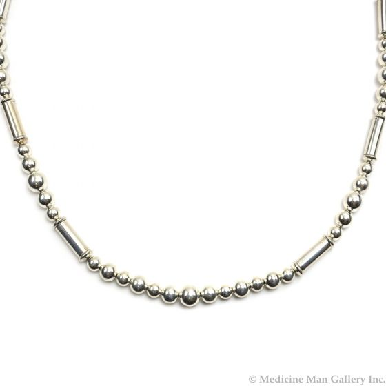 """Frank Patania, Jr. - Sterling Silver Beaded Necklace, 34"""" length (J91620A-0620-011)"""