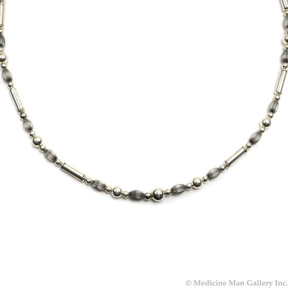 "Frank Patania, Jr. - Sterling Silver Beaded Necklace, 34"" length (J91620A-0620-017)"