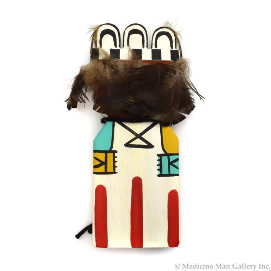 Ted Puhuyesva, Hotevilla - Hopi Tukwinong, Tukwunaq (Cumulus Cloud) Cradle Kachina