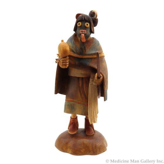 "Jim Fred (b. 1945) - Hopi Contemporary Warrior Woman Kachina, 11.25"" x 4.5"" x 4.5"" (K90764A-0920-002)"