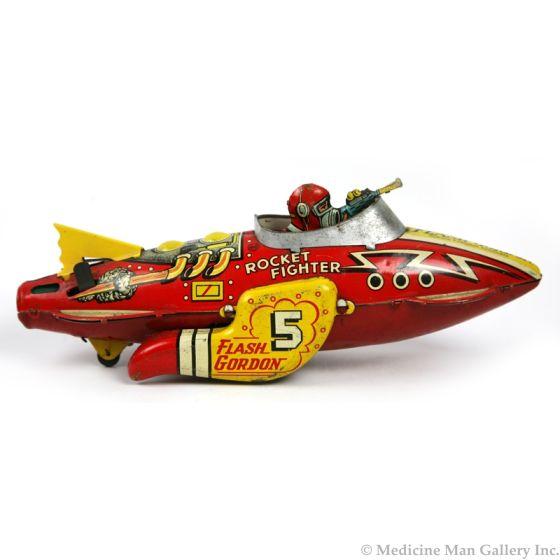 "Flash Gordon ""Rocket Fighter"" Wind-Up Toy by Marx"