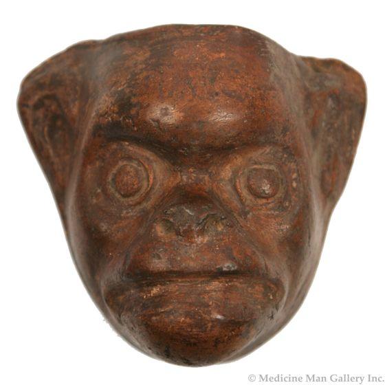 """Monkey Mask Mold, Mexico or Guatemala, c. 1960s, 6"""" x 6.75"""" x 3.25"""""""