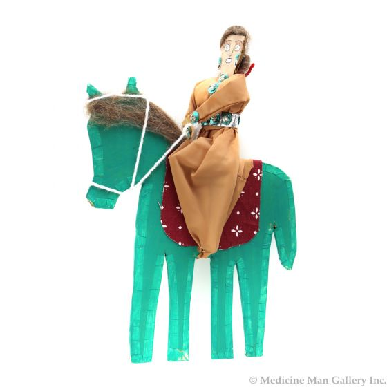 "Seri Horse Rider Doll c. 1980s, 13.5"" x 9"" x 2.5"""