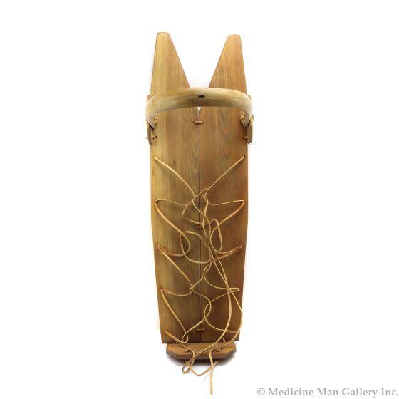 """Navajo Cradleboard c. 1970-80s, 14.25"""" x 9.75"""" x 36"""" (M91824A-0215-022)"""