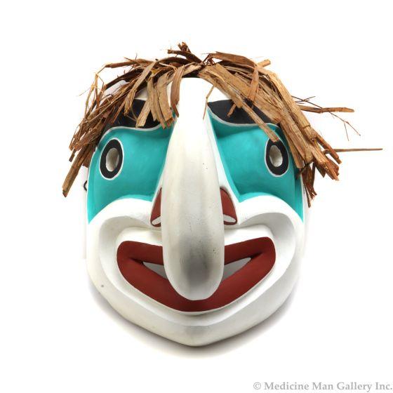"Fearon Smith, Jr. (Tsungani) - Contemporary Kwakwaka'wakw Carved Wood Mask, 13"" x 10"" x 13.5"" (M92306-0220-002)"