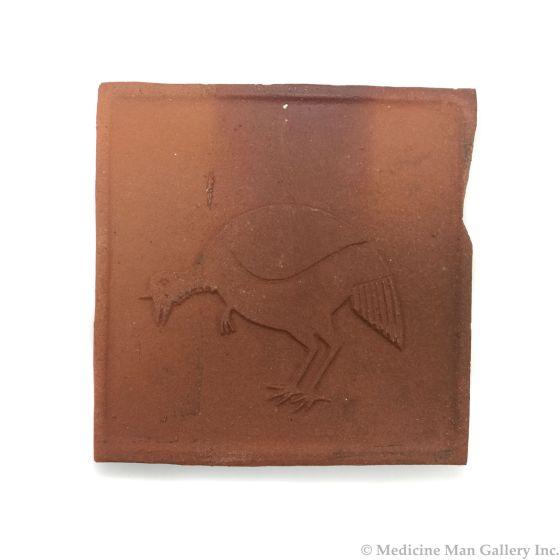 "Awa Tsireh (1895-1955) – San Ildefonso Pottery Tile with Bird, c. 1920s, 5"" x 5"" (P3304-CO-19)"