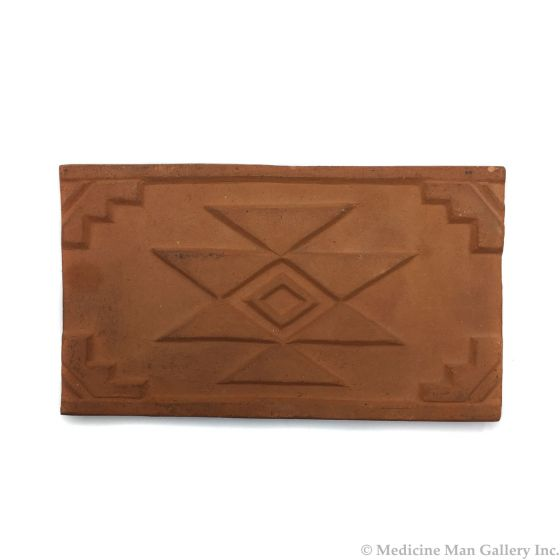 "Awa Tsireh (1895-1955) – San Ildefonso Pottery Tile, c. 1920s, 4.25"" x 7.25"" (P3304-CO-254)"
