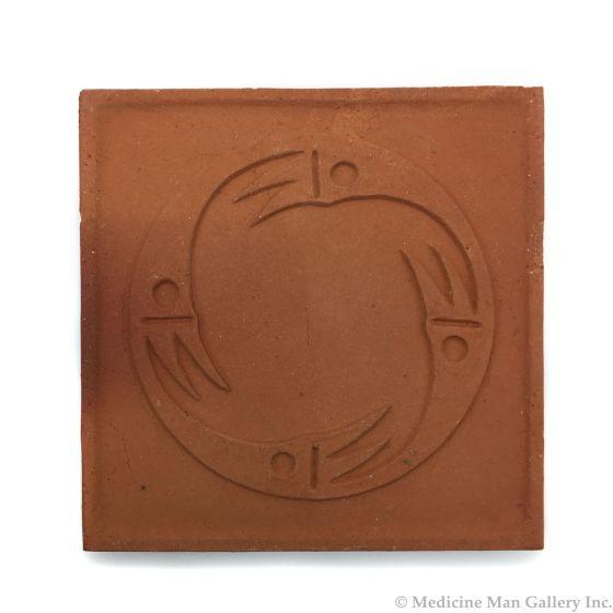 "Awa Tsireh (1895-1955) – San Ildefonso Pottery Tile, c. 1920s, 4.75"" x 4.75"" (P3304-CO-280)"
