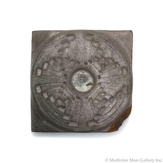 "Awa Tsireh (1895-1955) – San Ildefonso Hand Glazed Pottery Tile, c. 1920s, 4"" x 4"" (P3304-CO-297)"