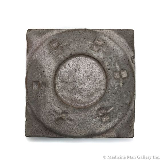 "Awa Tsireh (1895-1955) – San Ildefonso Hand GlazedPottery Tile, c. 1920s, 4"" x 4"" (P3304-CO-298)"