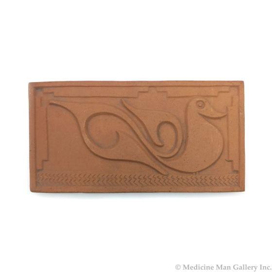 "Awa Tsireh (1895-1955) – San Ildefonso Pottery Tile with Bird, c. 1920s, 5"" x 9.75"" (P3304-CO-87)"