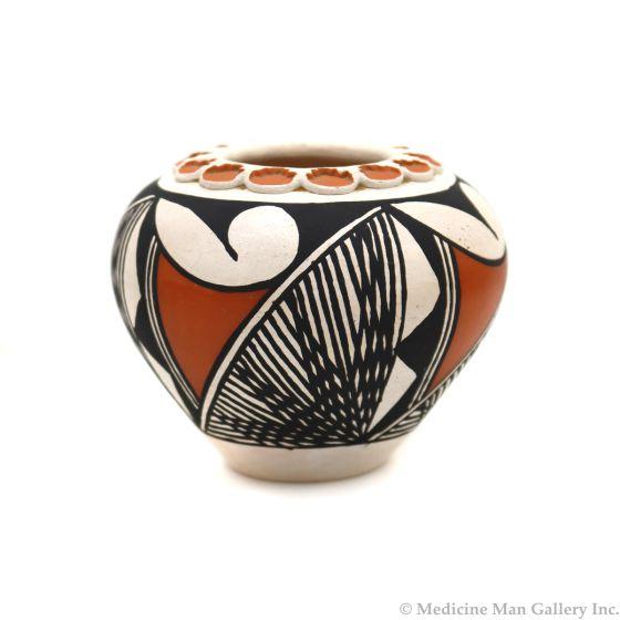 "Frances Concho (b. 1947) - Acoma Polychrome Jar c. 1960-70s, 2.75"" x 3.25"" (P3332)"