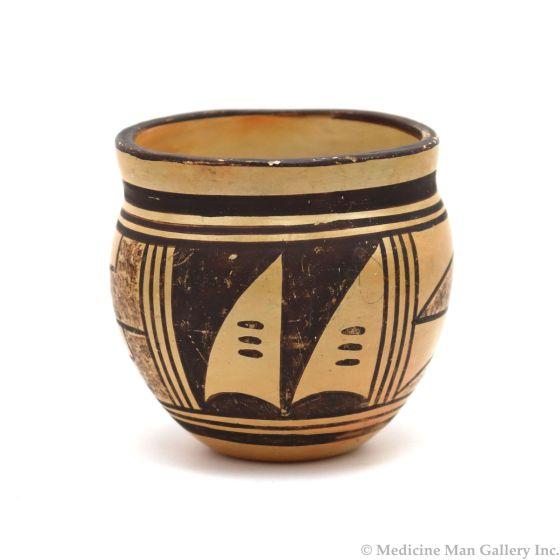 """Hopi Polychrome Jar c. 1960-70s, 3.5"""" x 3.5"""" (P3339)"""