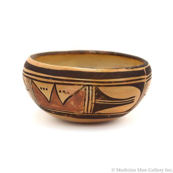 """Hopi Polychrome Bowl c. 1960-70s, 2.5"""" x 5"""" (P3340)"""