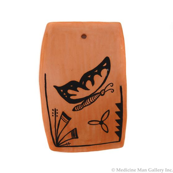 """Hopi Tile with Butterfly Pictorial c. 1996, 3.75"""" x 2.375"""" (P3417)"""