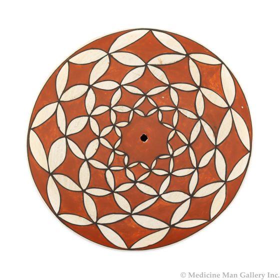 "Rose Chino (1928-2000) - Acoma Seed Jar with Geometric Pattern c. 1980s, 1.5"" x 6.5"" (P91963-1020-006)"