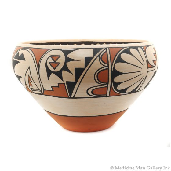 """Carmelita Dunlap (1925-1999) - Large San Ildefonso Polychrome Jar c. 1978, 10"""" x 17"""""""