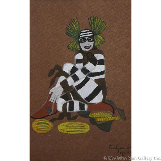 SOLD Encarnaciaon Pena (1902-1980) - Koshare Dancer