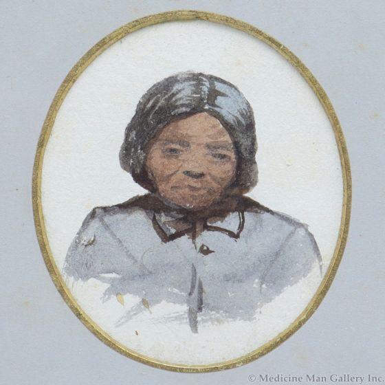 Artist Unknown - Portrait of Indian Woman (M91963-0121-011)