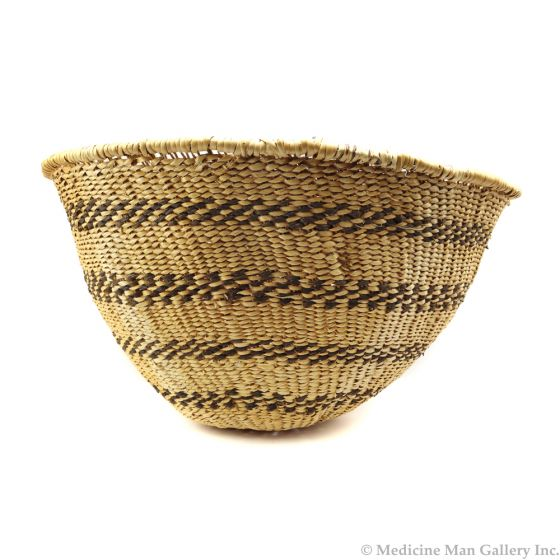 "Havasupai Basket with Banded Design c. 1930-40s, 10.25"" x 17"" (SK2959)"