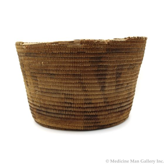 "Pima Basket with Geometric Design c. 1900s, 5.5"" x 9.25"" (SK3008)"