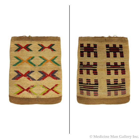 "Nez Perce Framed Corn Husk Twined Bag c. 1890s, 21.5"" x 16.5"" (SK90204C-0820-002)"