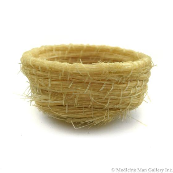 """Tohono O'odham Miniature Horsehair basket c. 1960s, 0.75"""" x 1.25"""" 1"""