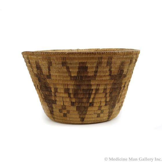 """Pima Coiled Basket with Lizard Pictorials c. 1900s, 6"""" x 10.75"""" (SK91369B-0321-019)"""