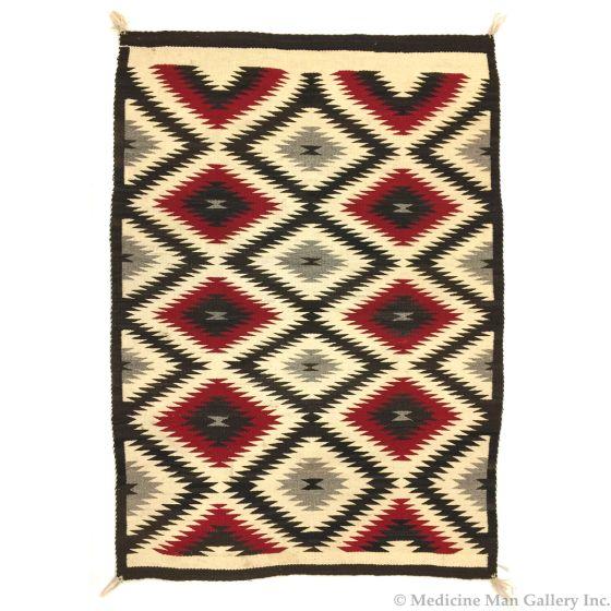 """Navajo Ganado Rug, c. 1930s, 59"""" x 44"""" (T3669)"""