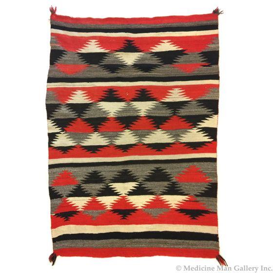 "Navajo Transitional Blanket, circa 1890s, 76"" x 56"""