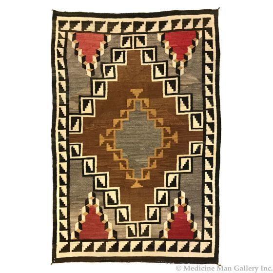 """Navajo Klagetoh Rug c. 1920s, 91.5"""" x 61.5"""""""