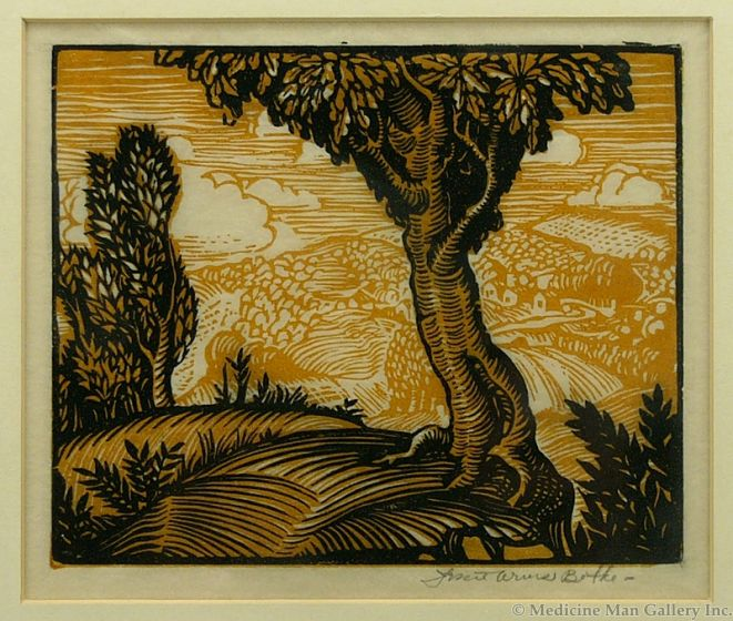 SOLD Jesse Arms Botke (1883-1971) - Trees and Mountain