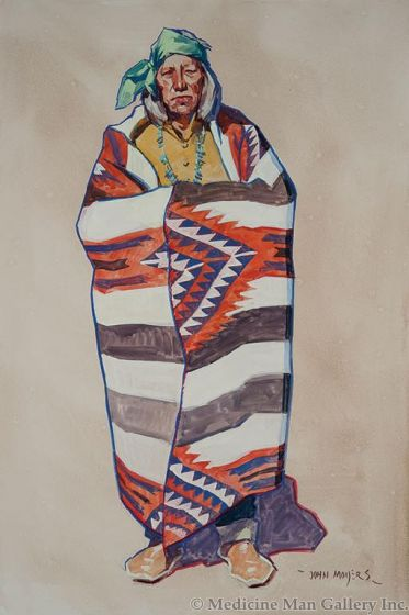 John Moyers - Third Phase Chiefs Blanket with Saltillo Influence (PLV91364-0314-007)