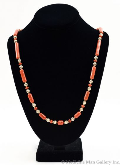 SOLD Frank Patania, Jr. - 14K Gold and Coral Necklace
