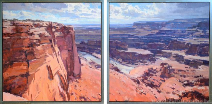 SOLD Jill Carver - Canyonlands From Deadhorse Point (Diptych)