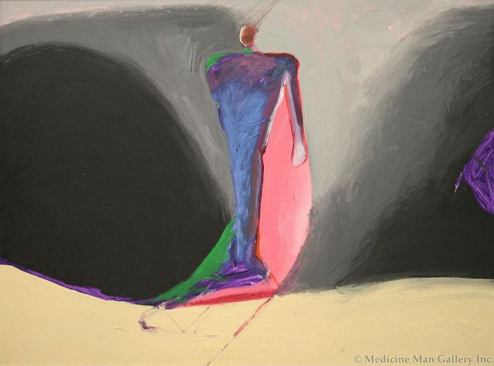SOLD Fritz Scholder (1937-2005) - Shaman and Cave