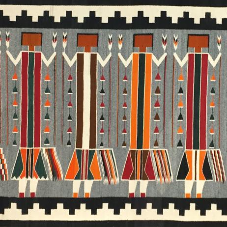 February 3, 2021 Arturo Chavez, Navajo Rugs and Blankets, Custom Bench, Zuni Owl Figurine, Maria Martinez Pottery, Orville Tsinnie, Bobby Sekakuku, Jr., Bernard Dawahoya