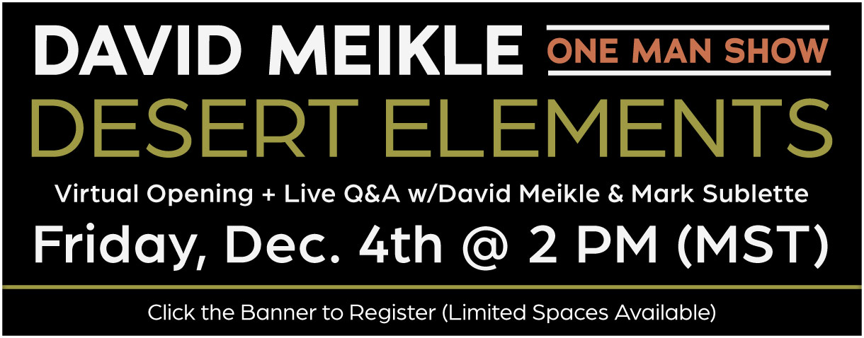 Register for the David Meikle: Desert Elements Virtual Opening and Q&A