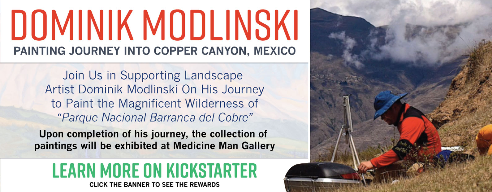 Dominik Modlinski: Painting Journey into Copper Canyon, Mexico