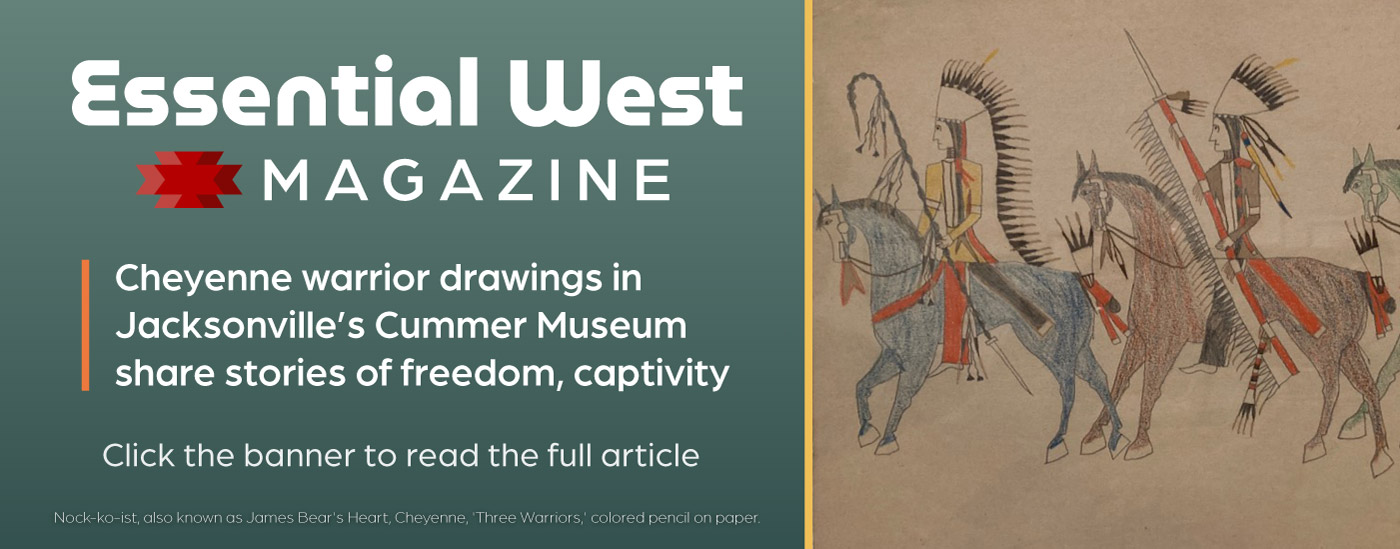 Read the Essential West article about the Cheyenne warrior drawings on display at Jacksonville's Cummer Museum.
