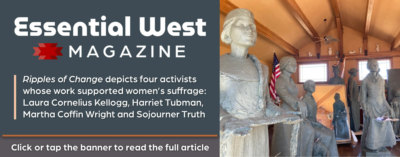Read the Essential West article on Jane DeDecker's sculpture series 'Ripples of Change'