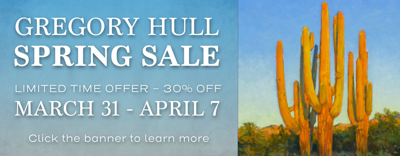 Gregory Hull Spring Sale 30% off through April 7th