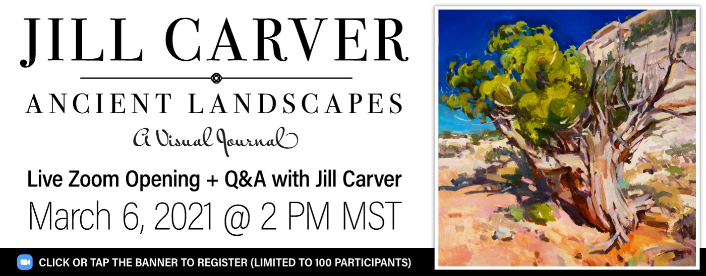 March 6, 2021 - Jill Carver Zoom Q&A - Register Now