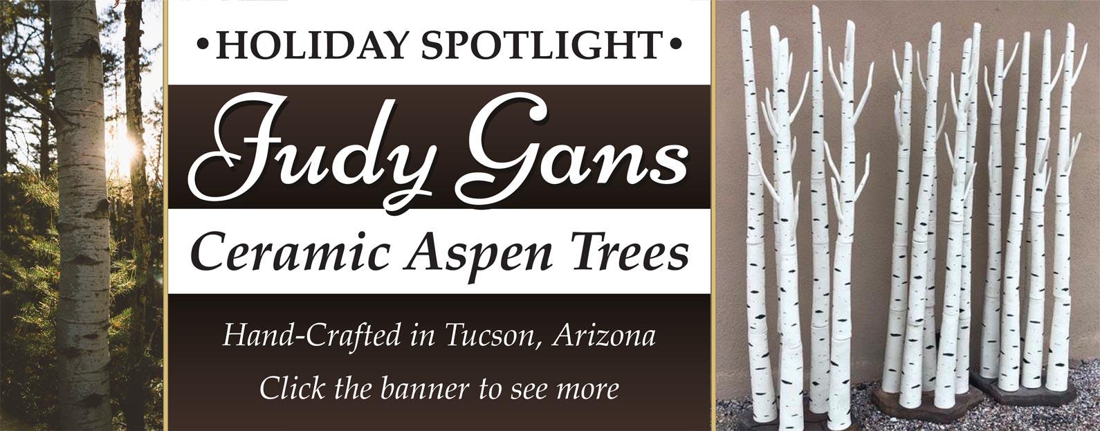Judy Gans Ceramic Aspen Trees