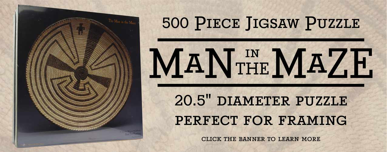 Man in the Maze 500 Piece Jigsaw Puzzle, Designed by J. Mark Sublette Medicine Man Gallery