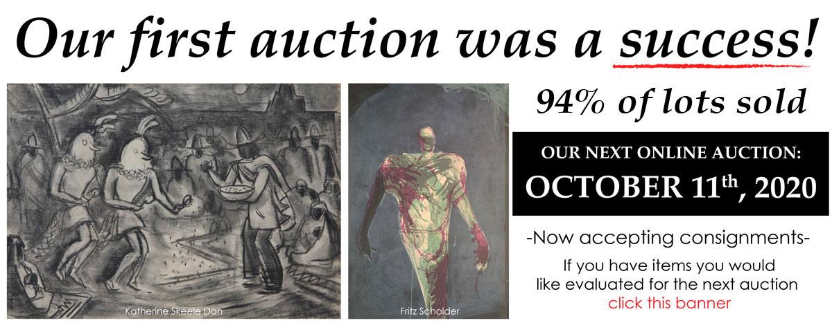 Next Online Auction October 11, 2020