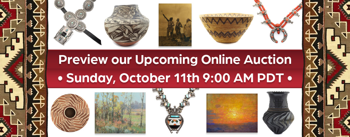 Preview our Upcoming Auction - Bidding begins 10AM PDT, October 11, 2020